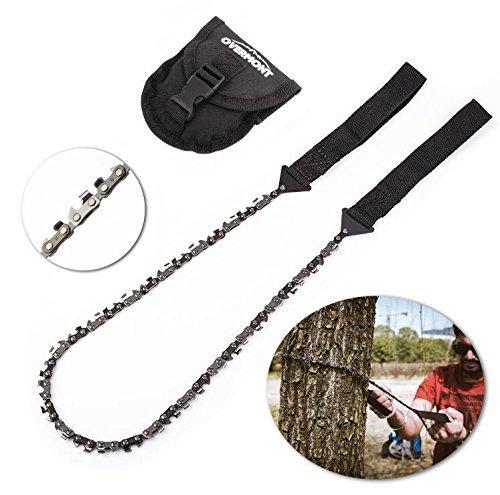 Overmont Handkettensäge Kettensäge AST-Säge Gartensäge mit 33 Zähnen aus Stahl Outdoor für Camping Garten Survival (103cm)